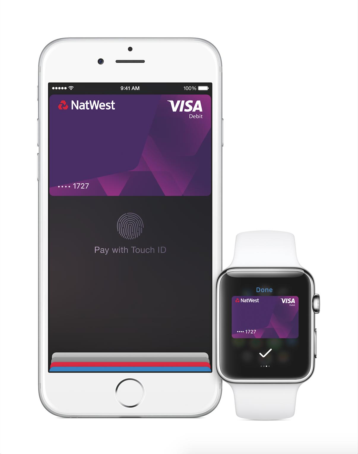 Apple Pay showing Visa debit card
